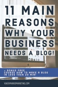 11 main reasons why your business needs a blog