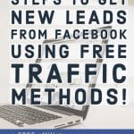 4 extraordinary steps to get new clients from facebook using FREE traffic methods